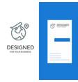 world location fly job grey logo design and vector image