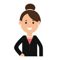 young businesswoman avatar character vector image