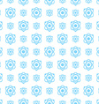 Seamless pattern science and technology background vector image