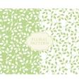 Seamless floral patterns set vintage background vector image