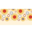 Warm vibrant floral abstract horizontal seamless vector image
