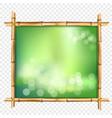 abstract spa or beach bamboo tropical billboard vector image vector image