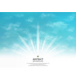 abstraction of summer sun light effect on soft vector image vector image