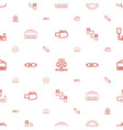 adapter icons pattern seamless white background vector image vector image