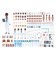 african american female doctor constructor set of vector image