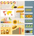 Agriculture infographic elements vector image vector image