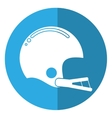 american football helmet sport shadow vector image vector image