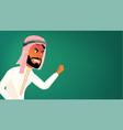 arab man banner traditional cloths vector image