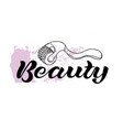 beauty black text vector image vector image