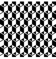 black and white cubes pattern seamless background vector image vector image