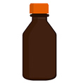 Brown glass bottle vector image vector image