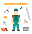 builder and tools vector image