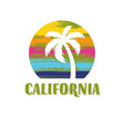 california tee print design with palm vector image