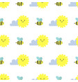 clouds sun weather bee cloudy summer blue vector image vector image