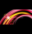 color shiny light effects on black liquid style vector image