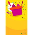 congratulations win vertical banner red gift box vector image