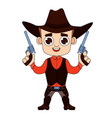 cowboy print for t-shirt vector image
