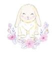 cute bunny girl with crown dream big princess vector image vector image