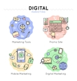 Digital Marketing Colored Icon Set vector image vector image