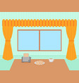 dinner room concept flat design icon objects on vector image