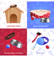dog accessories 2x2 design concept vector image vector image