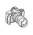 dslr camera doodle art vector image vector image