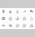 ecology hand drawn sketch icon set vector image