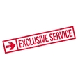 Exclusive service stamp vector image vector image