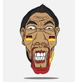 football fan from german vector image vector image