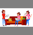 freelancer worker woman working at home vector image