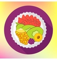Fruit salad flat design vector image vector image