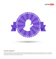 gloves icon - purple ribbon banner vector image