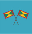 grenada flag icon in flat design vector image vector image