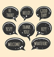 grunge doodle speech bubble icons vector image vector image