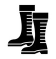 gumboots icon black sign on vector image