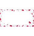 heart frame isolated white background red hearts vector image vector image