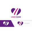 heart logotype combination love symbol vector image