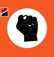 human hand fist vector image vector image