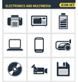 Icons set premium quality of home electronics and vector image vector image