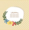 invitation template paper cutout frame and floral vector image vector image