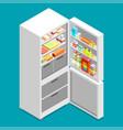 isometric fridge flat icon vector image vector image