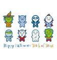 kids in halloween costumes vector image vector image