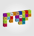 Logo with colorful cubes vector image vector image