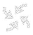 mesh cyclone arrows icon vector image vector image