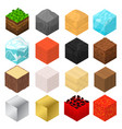 mine cubes signs 3d icon set isometric view vector image vector image