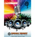 music event background vector image vector image