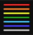 neon light tube set colorful neon lamp vector image