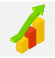 New growth chart isometric 3d icon vector image vector image