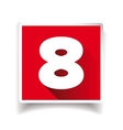 Number eight label or number icon vector image vector image