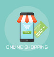 online shop flat design style vector image vector image
